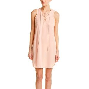 AMANDA UPRICHARD Lace Up Sleeveless Shift Dress